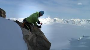 Endre Før Gjermundsen på feilarbeid på Svalbard under doktorgradsstudiet