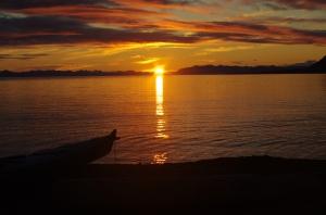 Sunset on Isfjorden